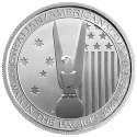 2013 1/2 oz Australia/America Silver Alliance WW II Memorial (BU) with Toning