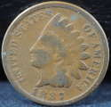 1887 Indian Head Cent Penny Very Good (VG) - SKU 84USP
