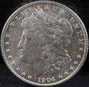 1904 P Morgan Silver Dollar Mint State (MS) - SKU 101US