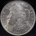 1921 P Morgan Silver Dollar Mint State (MS) with Die Lines - SKU 133US