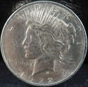 1922 P Peace Silver Dollar About Uncirculated (AU) - SKU 234US