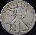 1917 P Walking Liberty Half Dollar 90% Silver Good (GD) - SKU 5USHD