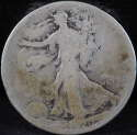 1920 P Walking Liberty Half Dollar 90% Silver About Good (AG) - SKU 60USHD