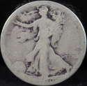 1920 P Walking Liberty Half Dollar 90% Silver About Good (AG) - SKU 62USHD