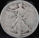 1920 P Walking Liberty Half Dollar 90% Silver About Good (AG) - SKU 64USHD