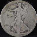 1920 S Walking Liberty Half Dollar 90% Silver About Good (AG) - SKU 70USHD
