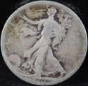 1920 S Walking Liberty Half Dollar 90% Silver Good (GD) - SKU 76USHD