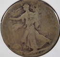 1927 S Walking Liberty Half Dollar 90% Silver About Good (AG) - SKU 83USHD
