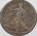 1928 S Walking Liberty Half Dollar 90% Silver Very Good (VG) - SKU 84USHD