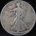 1928 S Walking Liberty Half Dollar 90% Silver Very Good (VG) - SKU 87USHD