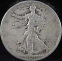 1929 S Walking Liberty Half Dollar 90% Silver Good (GD) - SKU 90USHD