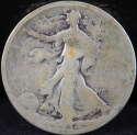 1934 P Walking Liberty Half Dollar 90% Silver About Good (AG) - SKU 98USHD