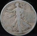 1935 P Walking Liberty Half Dollar 90% Silver About Good (AG) - SKU 99USHD