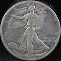 1936 P Walking Liberty Half Dollar 90% Silver Good (GD) - SKU 102USHD