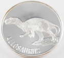 1 oz Allosaurus Silver Round with Light Scratches