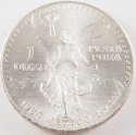 1984 1 oz Mexico Silver Onza Edge Lettering Facing Reverse (BU)