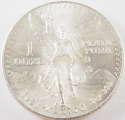 1983 1 oz Mexico Silver Onza Edge Lettering Facing Reverse (BU)