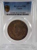 1937 Canada King George VI Voyageur Silver Dollar AU 58 PCGS SKU 0163G