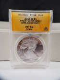 2016 W American Silver Eagle Proof 30th Anniversary PF 69 DCAM ANACS