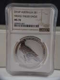 2016 1 oz Australia Silver Wedge Tailed Eagle MS 70 NGC SKU 201G