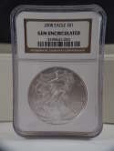 2008 American Silver Eagle Gem Uncirculated NGC SKU 0294G
