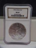 1993 American Silver Eagle MS 69 NGC SKU 482G