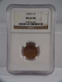 1944 D Lincoln Wheat Cent Penny MS 66 RD NGC SKU 514G