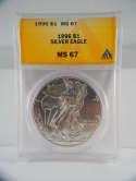 1996 American Silver Eagle MS 67 ANACS SKU 555G