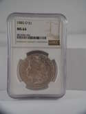 1885 O Morgan Silver Dollar MS 64 NGC SKU 658G