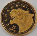 2011 1/2 gram Canada Gold Cougar 25 Cents Coin