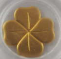 1/2 gram Republic of Palau Gold $1 Four-Leaf Clover (In Capsule)
