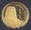 2016 1/2 gram Mongolia Gold 1000 Togrog Chinggis Khaan Proof (In Capsule)