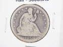 1858 P Seated Liberty Half Dollar 90% Silver Very Good (VG) - SKU 300USHD