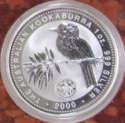 2000 1 oz Australia Silver Kookaburra Millenium December Privy BU