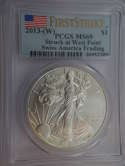 2013 W American Silver Eagle First Strike Swiss America Trading MS 69 PCGS