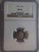 1951 P Roosevelt Silver Dime MS 66 NGC - SKU 742G