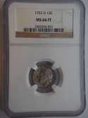 1952 D Roosevelt Silver Dime MS 66 FT NGC - SKU 744G