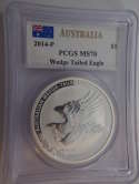 2014 Australia Silver Wedge-Tailed Eagle MS 70 PCGS - SKU 751G