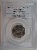 2001 P North Carolina Quarter Clad MS67 PCGS - SKU 754G