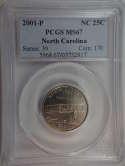 2001 P North Carolina Quarter Clad MS67 PCGS - SKU 755G