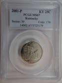 2001 P Kentucky Quarter Clad MS67 PCGS - SKU 758G