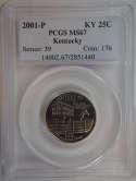 2001 P Kentucky Quarter Clad MS67 PCGS - SKU 759G