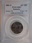 2001 P Kentucky Quarter Clad MS67 PCGS - SKU 760G