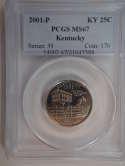 2001 P Kentucky Quarter Clad MS67 PCGS - SKU 761G
