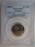 2001 P Kentucky Quarter Clad MS67 PCGS - SKU 762G