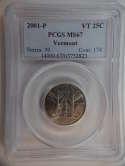 2001 P Vermont Quarter Clad MS67 PCGS - SKU 769G