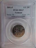 2001 P Vermont Quarter Clad MS67 PCGS - SKU 771G