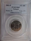 2001 P Vermont Quarter Clad MS67 PCGS - SKU 772G