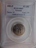 2001 P Vermont Quarter Clad MS67 PCGS - SKU 773G