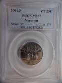 2001 P Vermont Quarter Clad MS67 PCGS - SKU 774G